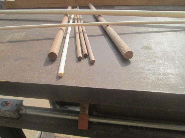 Aprende ha moldear varillas de madera cil ndrica con una - Varillas de madera ...