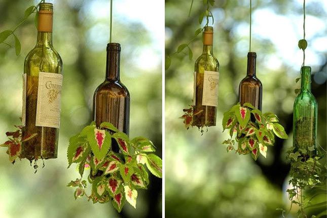 13 Ideas Para Reciclar Botellas De Vidrio En Casa Manos