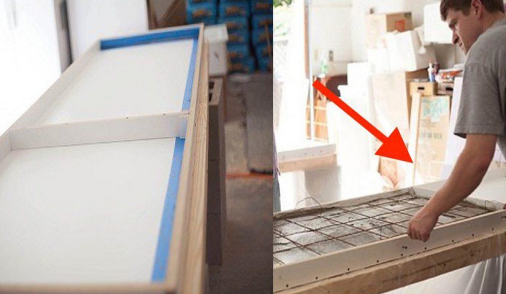 Usa hormigón para hacer una encimera en tu cocina y prepárate para ...