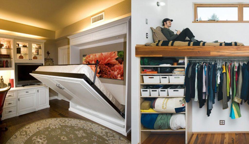 20 ideas inteligentes para sacar el m ximo provecho a las - Aprovechar espacio habitacion pequena ...