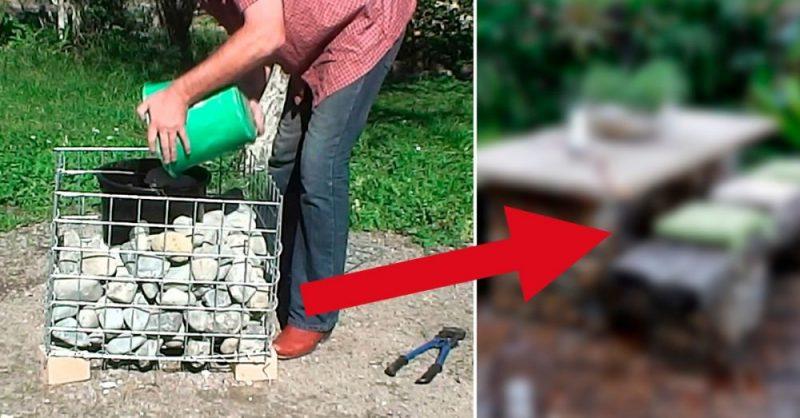 La económica manera de hacer muebles y estructuras usando gaviones ...