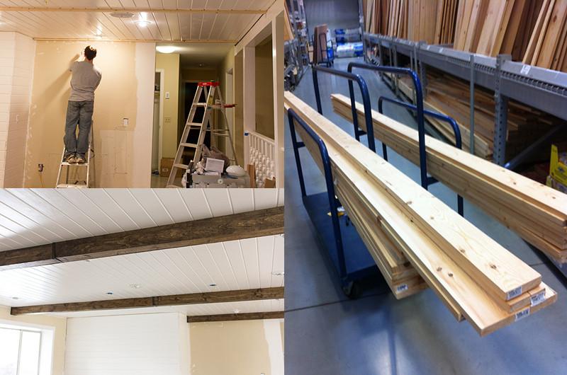 Aprende a instalar vigas de madera decorativas para un for Vigas de madera decorativas