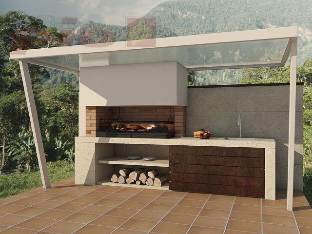 12 dise os de parrillas para el patio que enloquecer as for Cual es el techo mas economico para una casa