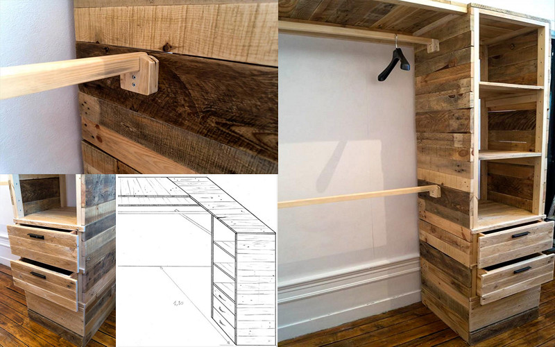 Podr as hacer un armario multifuncional con pallets de - Como forrar un armario con tela ...
