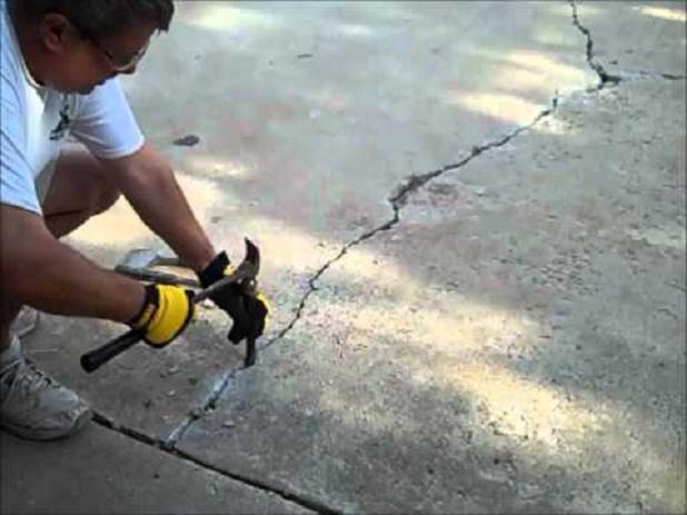 C mo reparar una grieta en suelo de hormig n en 4 - Como hacer un piso de hormigon lustrado ...