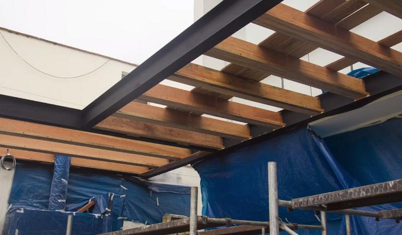Mira c mo este espacio se aprovech para hacer un techo - Como pintar un techo ...