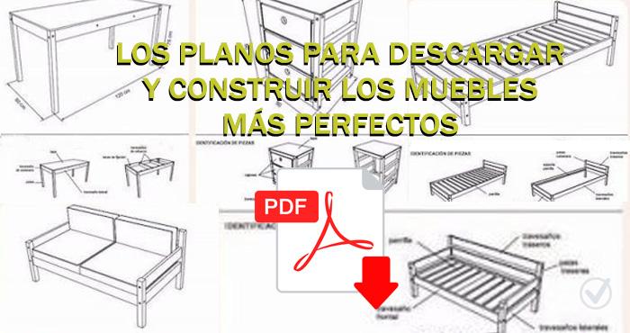 Descarga estos planos a la medida exacta y construye for Muebles el uruguayo