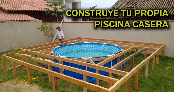 Haz Tu Propia Piscina Casera Usando Pallets De Madera Y Herramientas - Piscinas-caseras