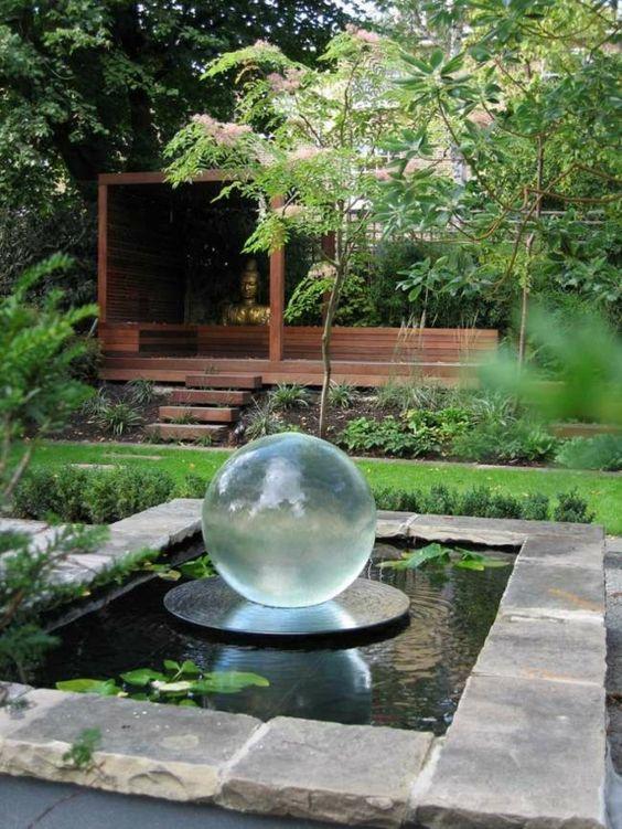 12 ideas para decorar tu jard n con asombrosos dise os - Fuentes minimalistas para jardin ...