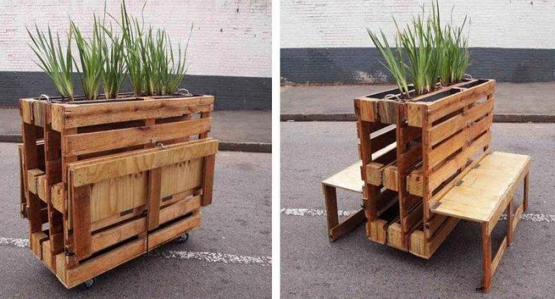 10 fabulosas ideas para hacer proyectos con pallets de for Proyecto de muebles de madera