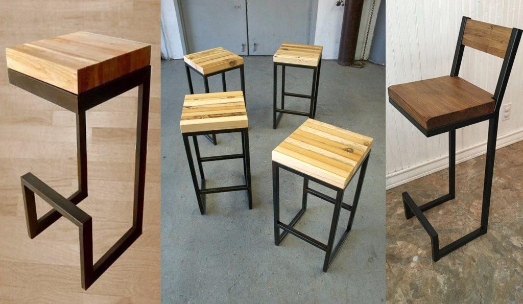 Aprende c mo fabricar unos taburetes de madera para la for Sillas barra cocina