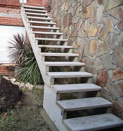 Calcula las medidas exactas para construir tu propia for Escaleras por fuera de la casa