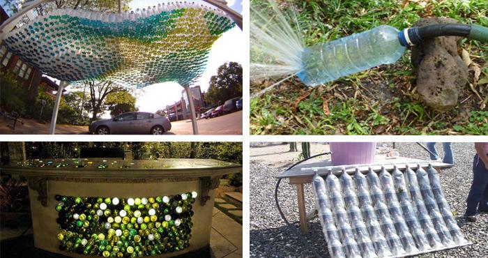 12 ingeniosas formas de reusar las botellas de pl stico en - Botelleros de obra ...