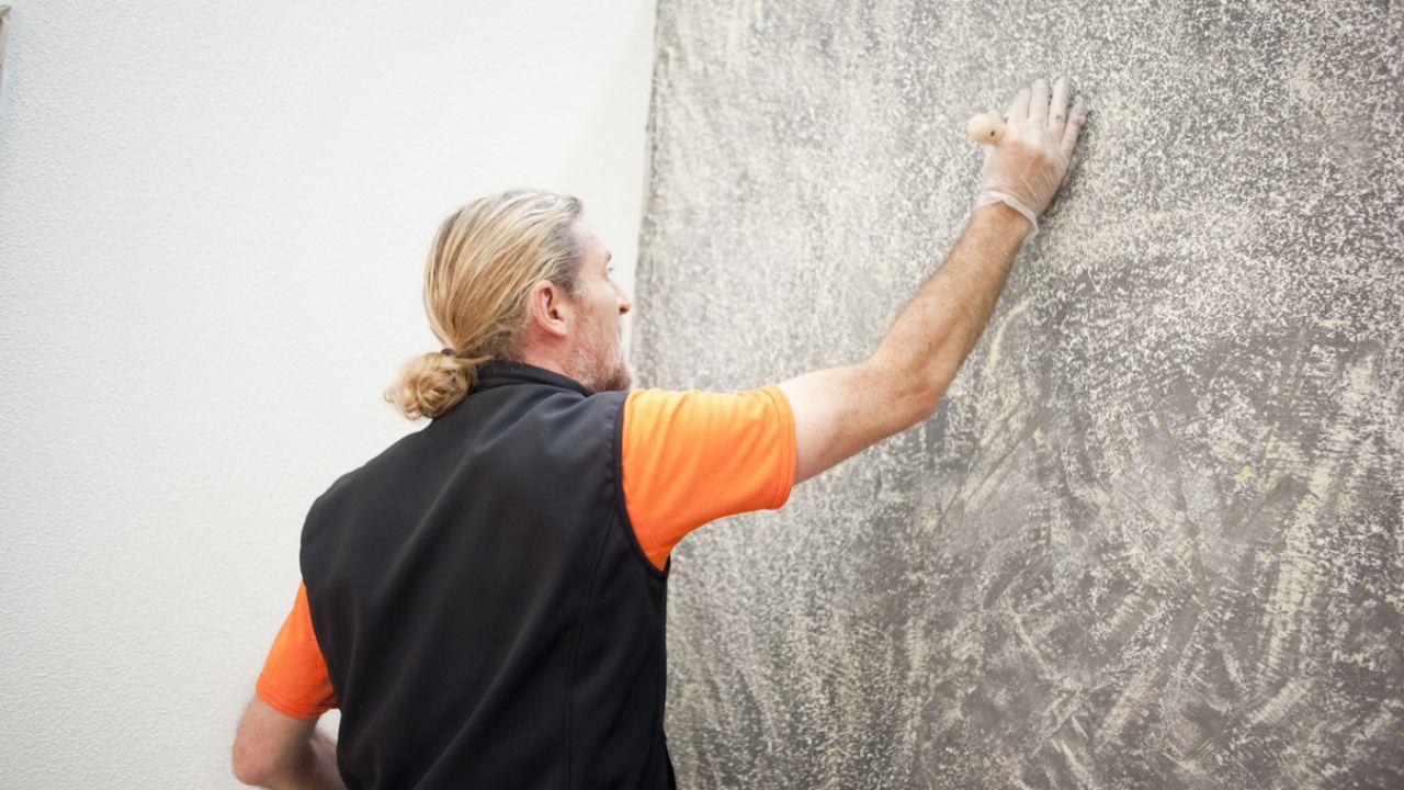 Elimina el golet de tu pared en un santiam n con este - Como se hace el gotele en las paredes ...