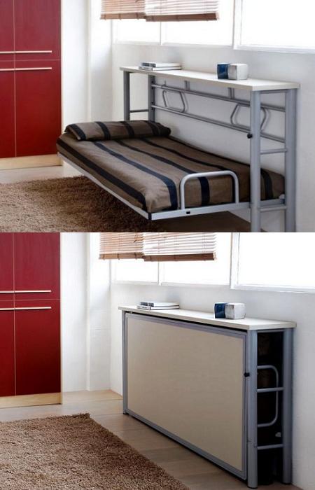 14 fabulosas ideas para hacer camas desplegables de manera - Camas pegadas ala pared ...