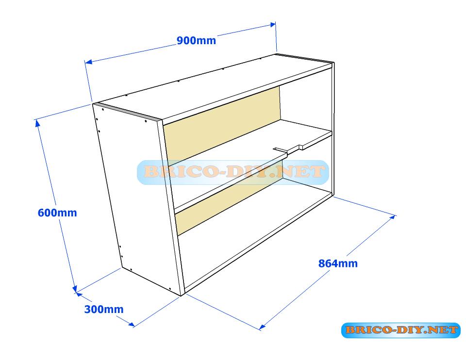Los planos exactos que har n de tu mueble de cocina una for Mueble de cocina 8 puertas
