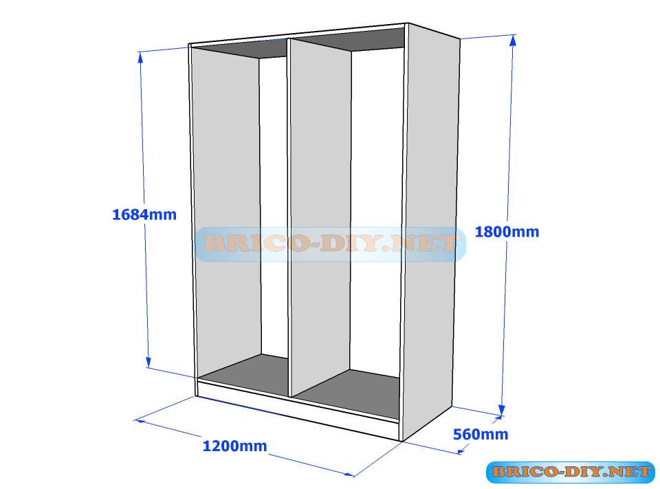 Crea tu propio ropero armario de melamina con estos planos de forma ...