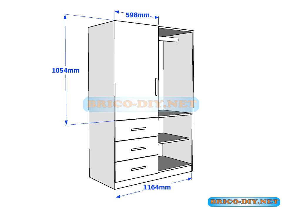 Sigue estos planos y haz un ropero de melamina con las for Planos de closet pdf
