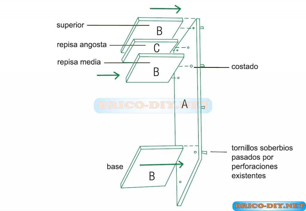 Construye un cl set de melamina con las medias exactas for Planos de roperos
