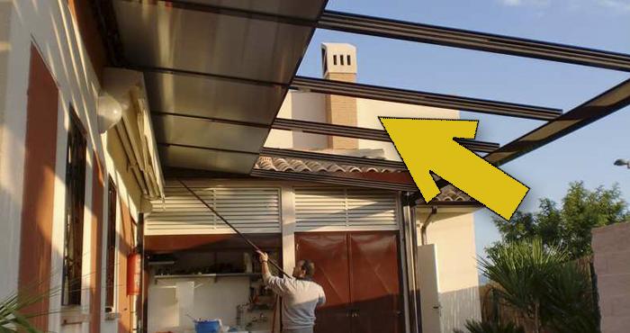 techo corredizo de policarbonato instalado por nosotros mismos