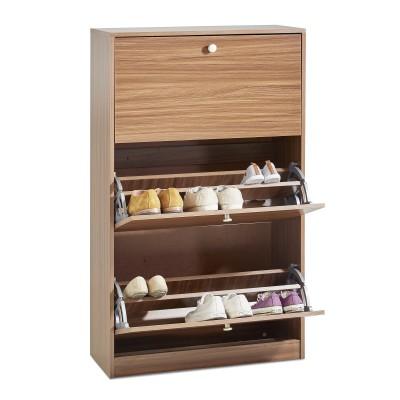 Construye tu propia zapatera minimalista a medida for Zapateras para closet madera