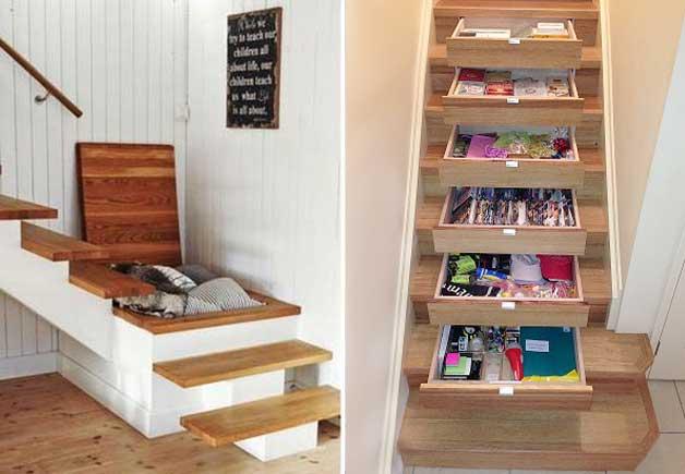 8 fant sticas ideas que te permitir n ahorrar espacio en - Modelos de escaleras para casas pequenas ...