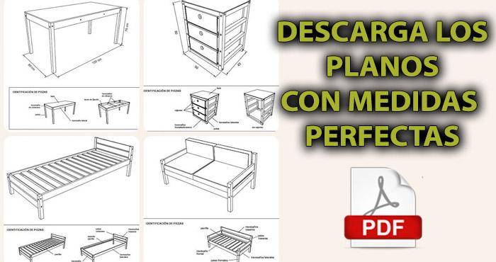 Descarga todos los planos que necesitabas para hacer los for Proyecto de muebles de madera