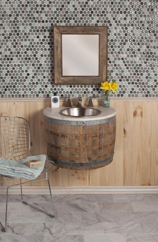 19 extraordinarias formas de decoraci n construidas con for Barril mueble bar