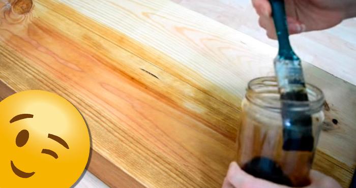 Mira este video tutorial para crear tintes incre bles a - Tinte para madera casero ...