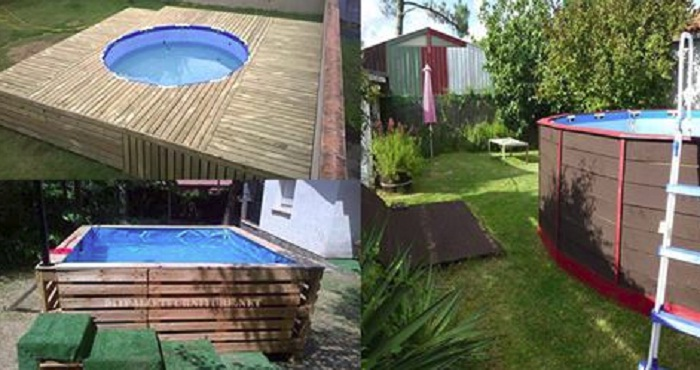 7 modelos para hacer una piscina de pallets en casa for Modelos de piscinas de obra
