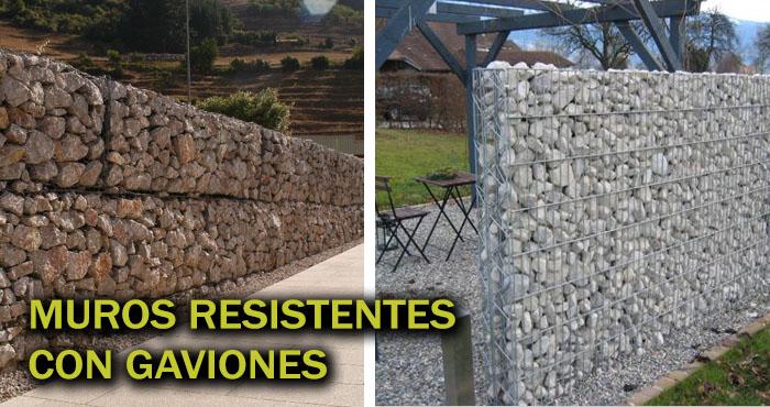 12 Precisas ideas para hacer muros resistentes usando gaviones