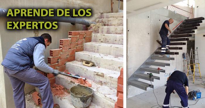 Como se hace una escalera de obra stunning fotos de obra for Armar escalera metalica