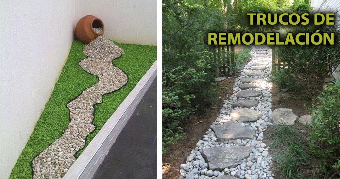 21 remodelaciones estrat gicas de jardines usando las for Como tenir piedras para jardin