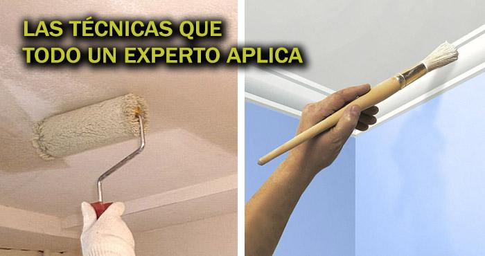 Aprende c mo pintar un techo de yeso laminado como todo un profesional manos a la obra - Como pintar un techo ...
