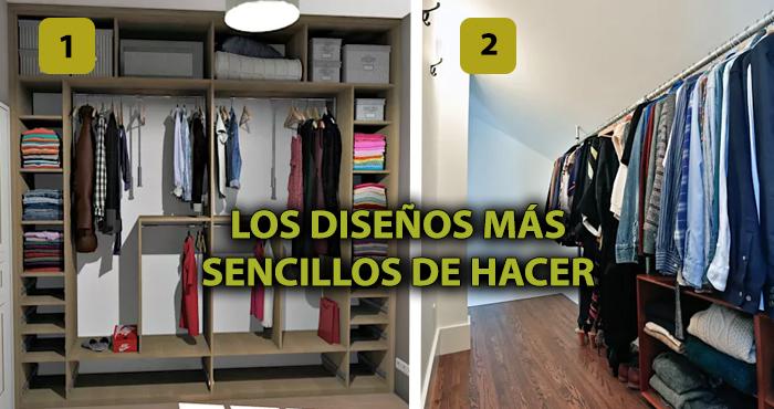 Los 17 dise os de cl set abiertos demasiado simples para for Disenos de closets sencillos