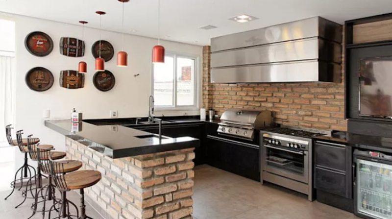 6 Tipos de cocinas con barras integradas que son la ...