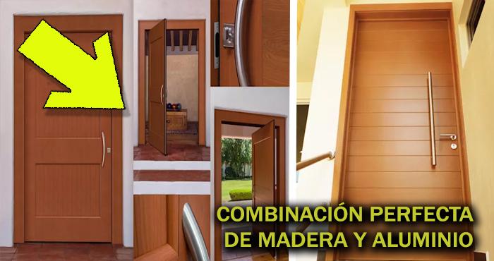 Los 15 dise os de puertas para exteriores m s seguras y for Disenos de puertas de madera para exterior