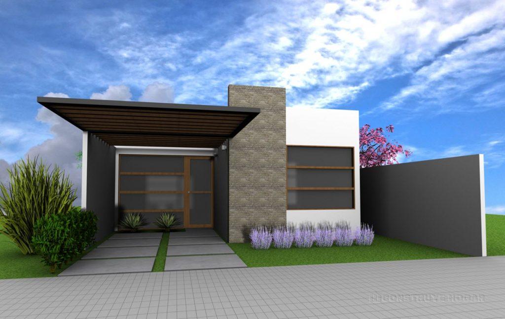 Tu primer terreno es peque o esta es la idea de for Casa moderna un piso