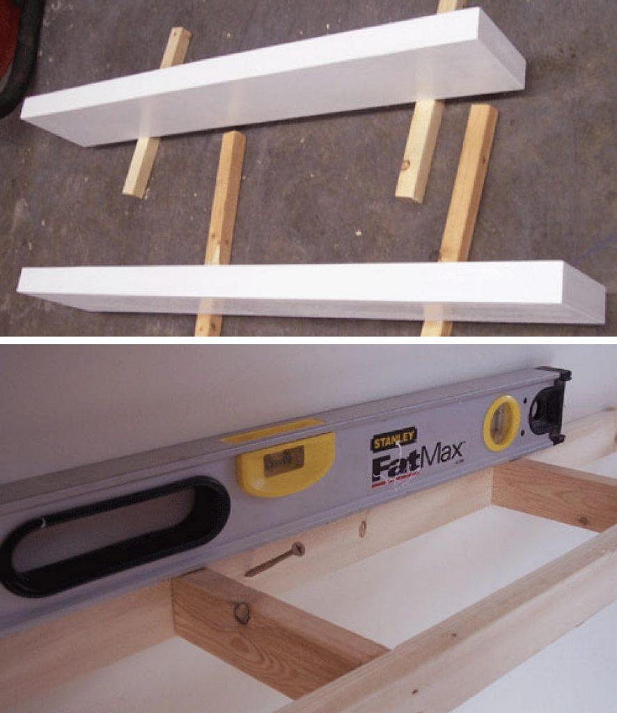 Construye por fin tu propio estante flotante usando unas - Como colocar piso flotante paso a paso ...