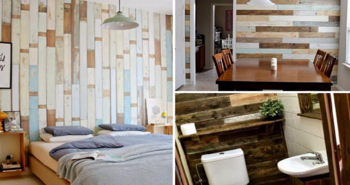 9 tipos de enchape con palets que puedes usar en el - Forrar pared con palets ...