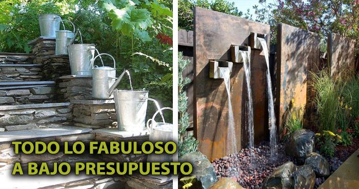 Animate A Tener Un Oasis En Tu Jardin O Patio Construyendo Las - Fuentes-ornamentales-para-jardin