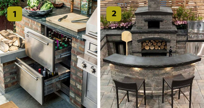 10 dise os profesionales de cocinas al aire libre que van for Cocinas rusticas para patios
