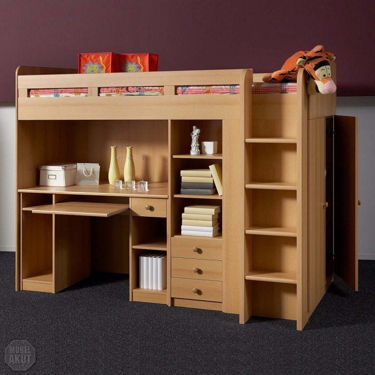 Apunta las medidas exactas para construir tu propio - Cama litera con escritorio debajo ...