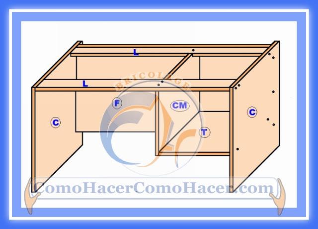 Mira c mo crear un escritorio para tu habitaci n con estos for Medidas de un escritorio
